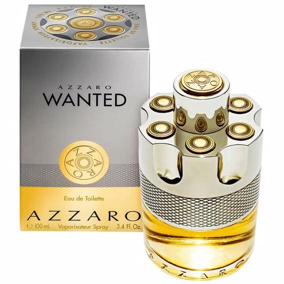 Perfume Azzaro Wanted Masculino Edt 100ml 12x Fte Gratis