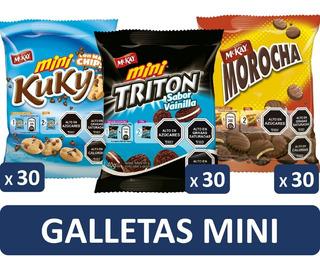 Galletas Mini Mckay Colación Pack X90 Bolsas