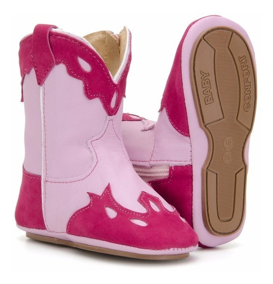 Bota Country Infantil Baby Texana Em Couro Capelli Boots