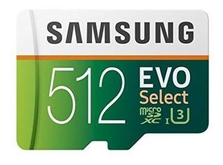 Samsung 512gb 100 Mb / S (u3) Microsd Evo Select Original