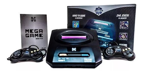 Video Game Retrô Mega Game 123 Jogos Inclusos 246 Versões Com 2 Controles