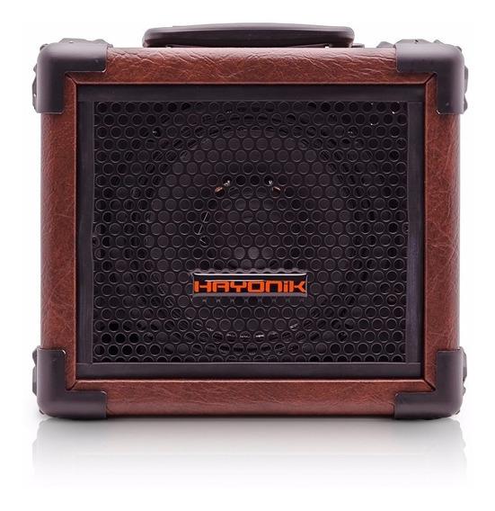 Caixa Multiuso Marrom Hayonik 20w Bluetooth Usb Fm Sd Iron80