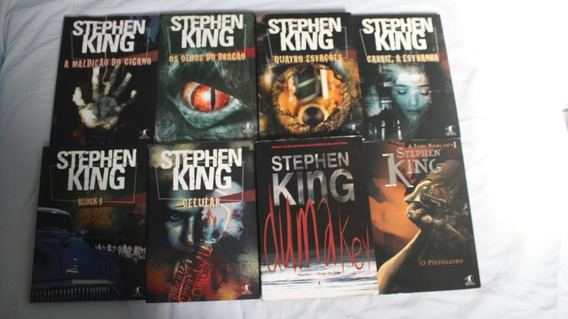 Coleção Com 8 Livros Do Mestre(rei)do Terror Stephen King
