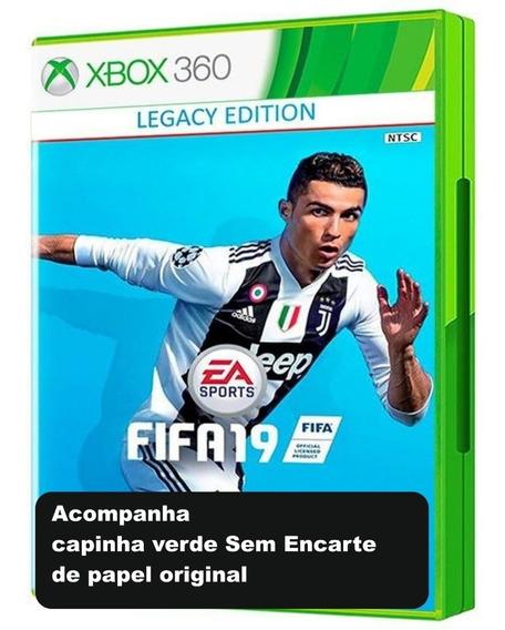 Fifa 19 Xbox 360 Mídia Física Original Obs: Sem Encarte