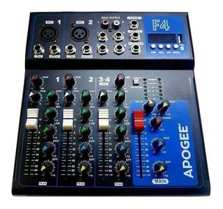 Consola De Sonido Apogee F4 Audiomixer 4 Canales Usb 48v Fxp