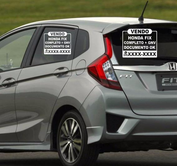 Adesivo Vendo Vende-se Veículo Carro 03 Peças Placa Adesiva