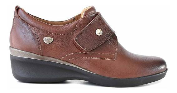 Zapatilla Cuero Mujer Briganti Zapato Confort Goma Mczp05273