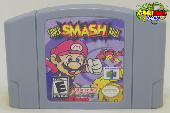 Super Smash Bros Nintendo 64 Novo N64