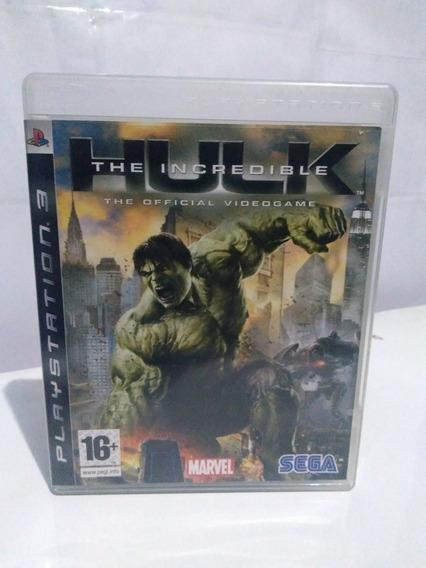 Jogo The Incredible Hulk Ps3 Mídia Fisica Raro R$125