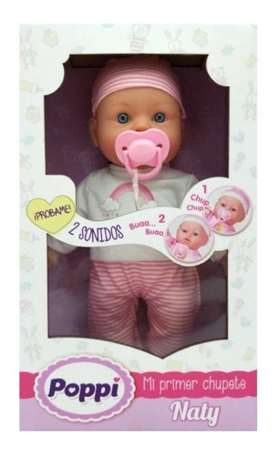 Muñeca Bebe Bebote Poppi Mi Primer Chupete Sonido 28001 Edu