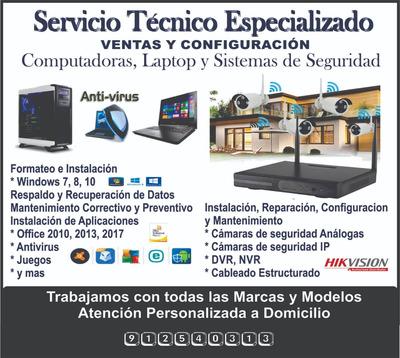 Servicio Tecnnico De Computadoras Y Camaras De Vigilancia