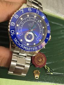 Urgente - Relogio Yach Master Ceramica Azul/ Aço Automático