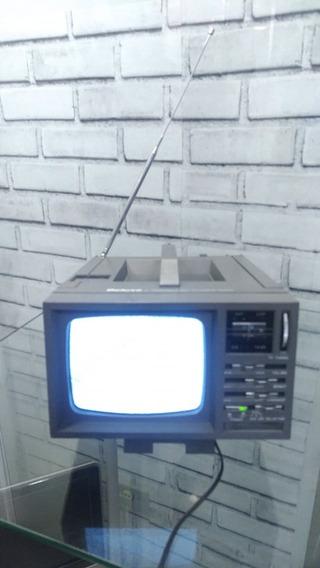 Antiga Mini Tv 5 Pol Com Radio Am E Fm Funcionando Anos 90