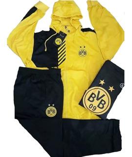 Conjunto Agasalho Borussia Dortmund Amarelo A Pronta Entrega