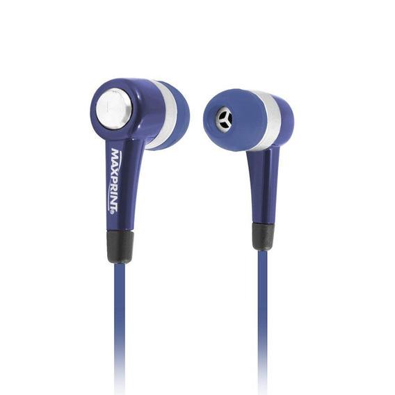 Fone De Ouvido Com Microfone Maxprint 6011535 - Azul