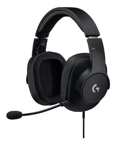 Imagen 1 de 4 de Auriculares gamer Logitech G Pro negro