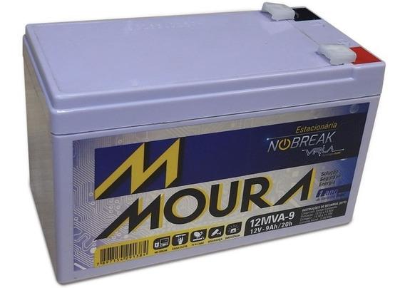 Bateria 12v 9ah Moura P/ Nobreak, Alarme- 12mva9