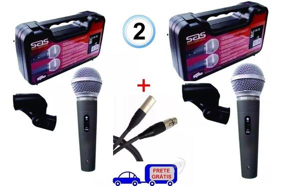 Microfone Santo Angelo Sas 58 C Chave Sm58 + Cabo Original 2
