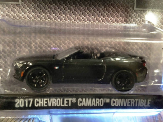 Chevrolet Camaro 2017 Convertib Greenlight 1:64 Black Bandit