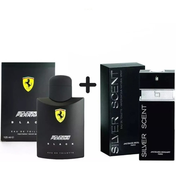 Kit Perfume Silver Scent 100ml+ Ferrari Black 125ml Original