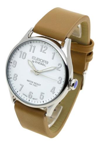 Reloj Europa By Diesel Hombre 4001 - Eco Cuero Metal Wr30