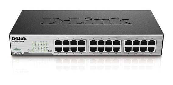 Switch 24 Portas D-link 10/100 Rack/qos Envio 24hs