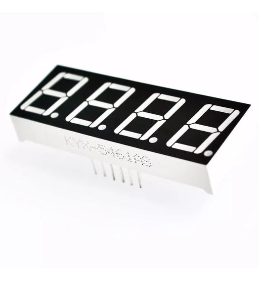 5x Display 7 Segmentos Vermelho - 4 Dígitos