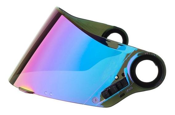 Viseira Capacete Texx Azul Iridium Mod. Action/kids F. Skate