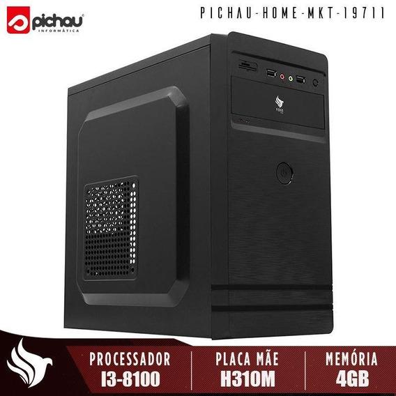 Computador Home Office Pichau, Intel I3-8100, 4gb Ddr4, 1tb