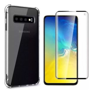 Capinha Anti-shock + Película 5d Samsung S10, S10 Lite, Plus
