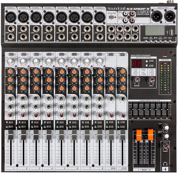 Mesa De Som Soundcraft Sx 1202 Fx