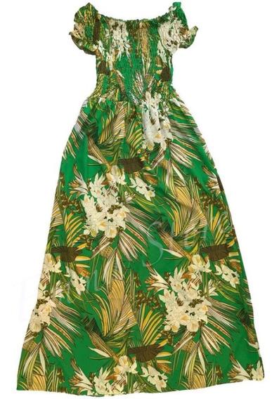 Vestido Longa Mangá Curto Ciganinha Viscose Estampas Flor