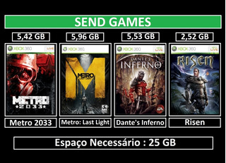 Metro 2033 , Last Light + 2 Jogos - Digital - Xbox 360