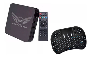 Convertidor Smart Tv Box + Mini Teclado Tv Android 7 Cuotas