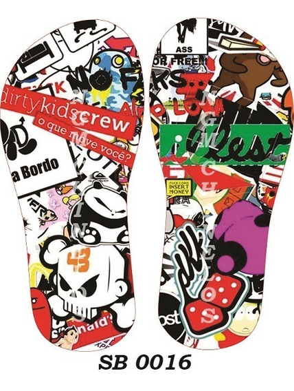 Chinelo Sticker Bombs Sb0016