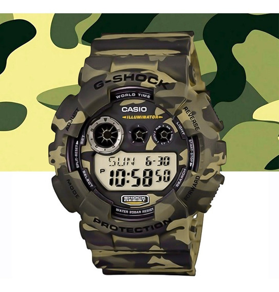 Relógio Casio G-shock Masculino Digit Gd-120cm-5dr Camuflado