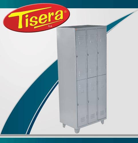 Guardarropa 6 Puertas Metalico Tisera Cerradura Gpc6