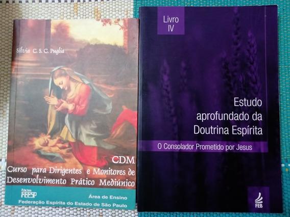 Estudo Aprofundado Da Doutrina Espirita Vol Iv+ 2 Livros