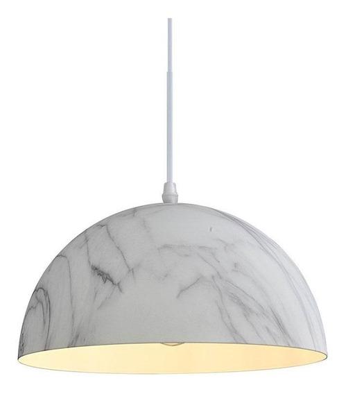 Lámpara Decorativa Colgante Color Mármol Blanco Lc782a