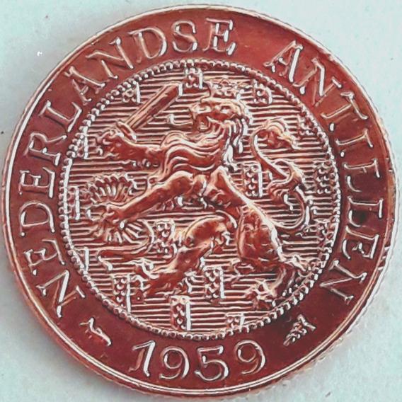 Antillas Holandesas 2 Y 1/2 Centavos Del Año 1959 Km #5 Xf