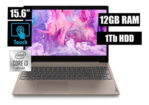 Notebook Lenovo Core I3 10ma Gen 12gb 1tb 15.6 Hd Touch Nnet