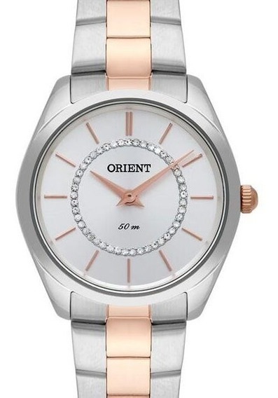 Relógio Orient Feminino Rose Gold / Prata - Ftss1114 D1sr