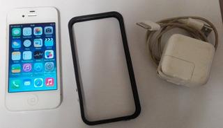 iPhone 4, 8gb, Blanco, Sin Detalles, Protector De Regalo