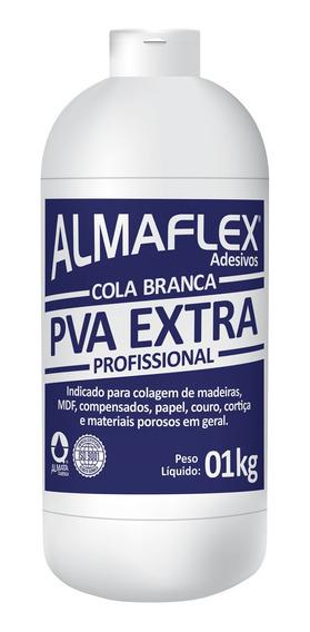 Cola Adesivo Branca P/ Marcenaria Madeira Mdf 1kg Almaflex
