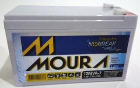 Bateria Moura Nobreak Apc Be600 Br1200 Br1500 Rc1200 12v 7ah