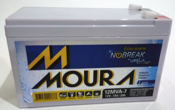 Bateria Gel Selada 12v 7ah - Moura Agm Vrla No-break