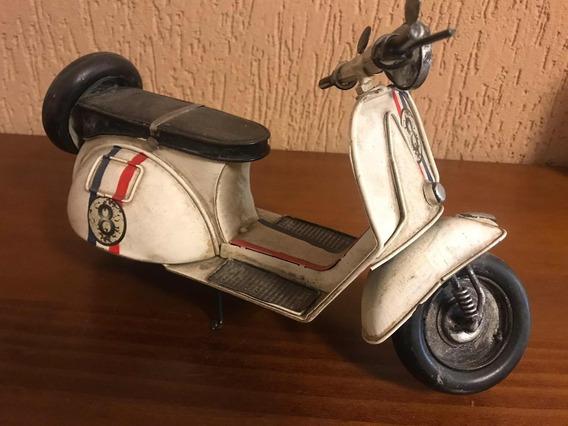 Moto Em Latão Vespa Px 150 Decorativa 30cm