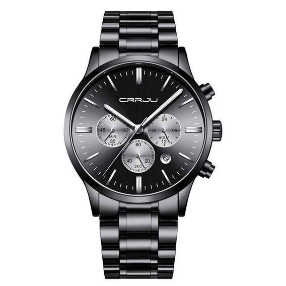Relógio Masculino Cronógrafo Classic Steel Preto