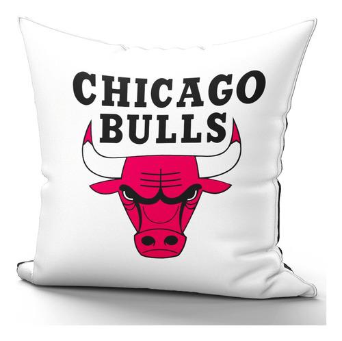Imagem 1 de 2 de Capa De Almofada 40x40cm Chicago Bulls Nba