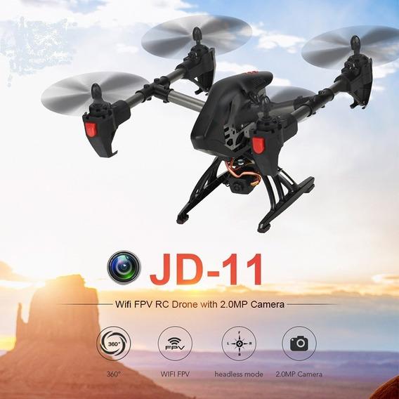 Drone Jdrc Jd-11 Jd11 Wifi Fpv Com Câmera De 2.0mp